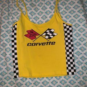 Yellow checkered corvette tank top!